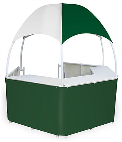 8.5' Wide Green/White Trade Show Gazebo
