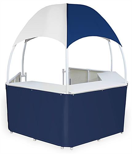 8.5u0027 Blue/White Tent Kiosk  sc 1 st  Displays2go & Blue/White Tent Kiosk | Portable with Carrying Bags