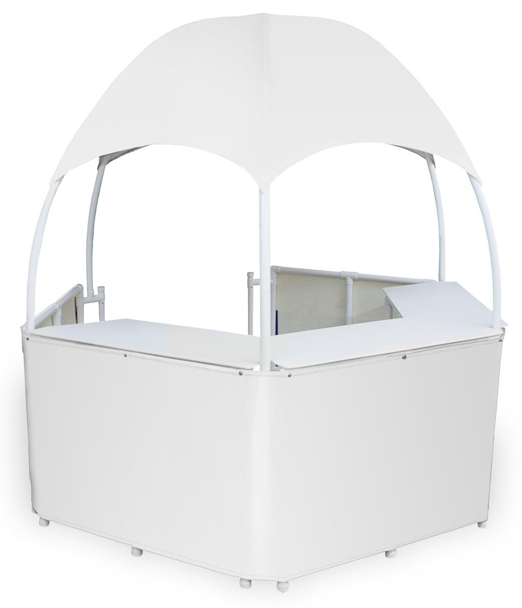 White Dome Kiosk Fda Grade Counters