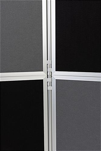 Folding portable backdrop panels with dual-sided display panels
