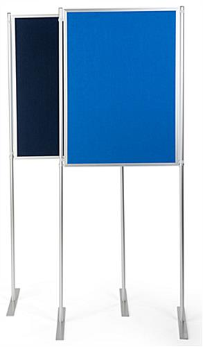 Double-sided freestanding modular display boards
