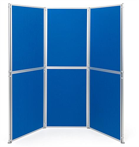 Contemporary freestanding modular display boards