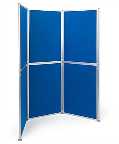 Freestanding modular display boards with six individual display panels