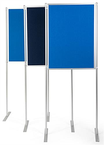 Freestanding single clip and pole exhibit panel system