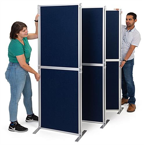 Lightweight clip and pole exhibit panel system