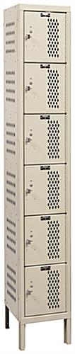 Square Lockers with Diamond Perforated Ventilation