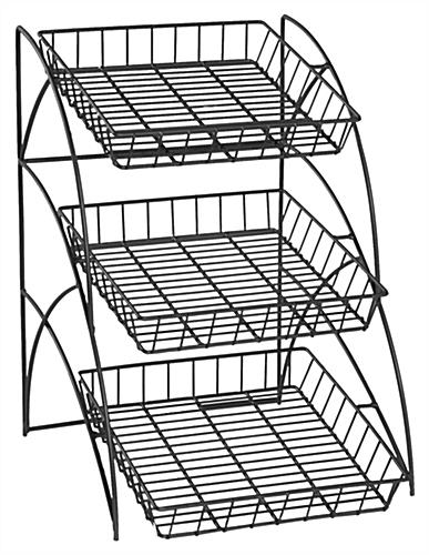Merchandising Rack Has 3-Tier Design