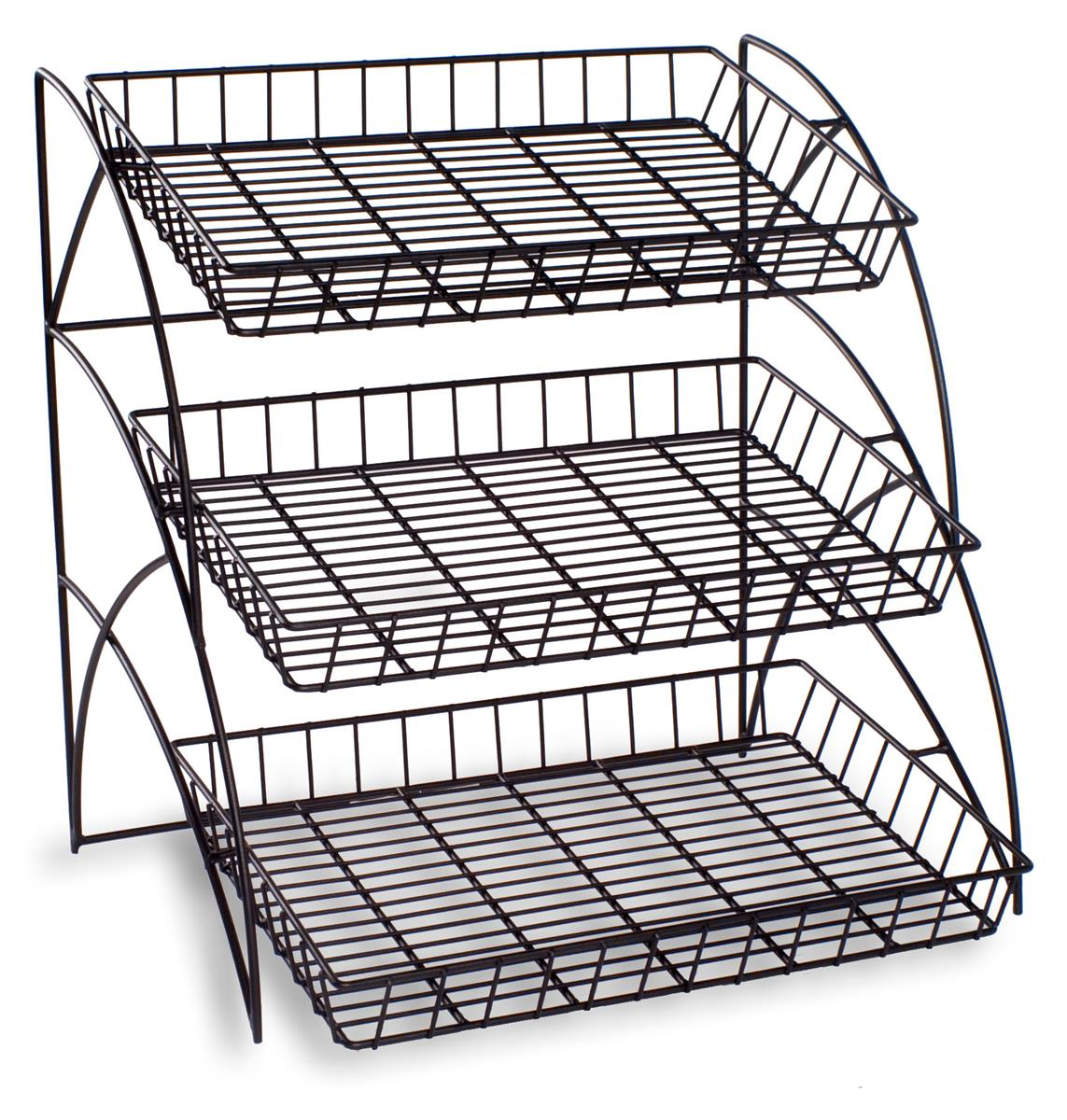 3 wire tray display rack food retail display