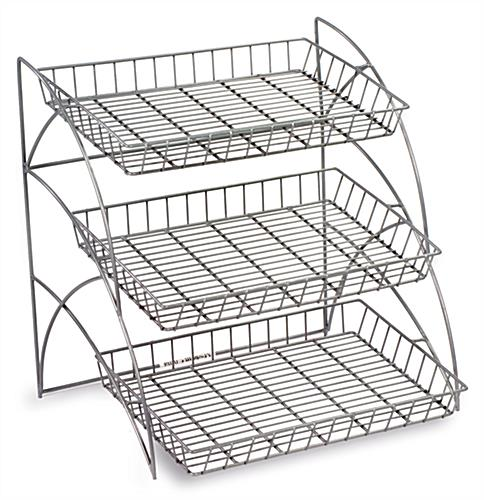 Wire Rack | 3 Shelf Wire Shelving Racks Countertop Retail Merchandising