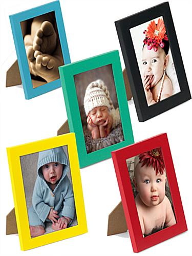 Picture Displays Are A Set Of 5 Colored Frames