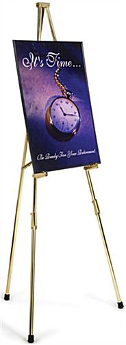 Brass Easel Features Four Display Heights