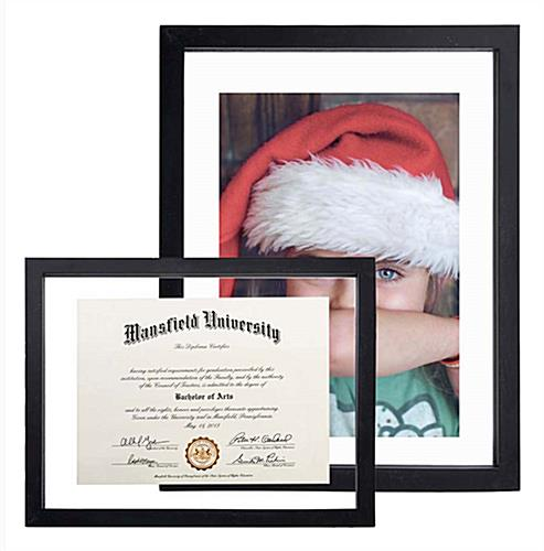 Floating Picture Frame Up To 11x14 Documents