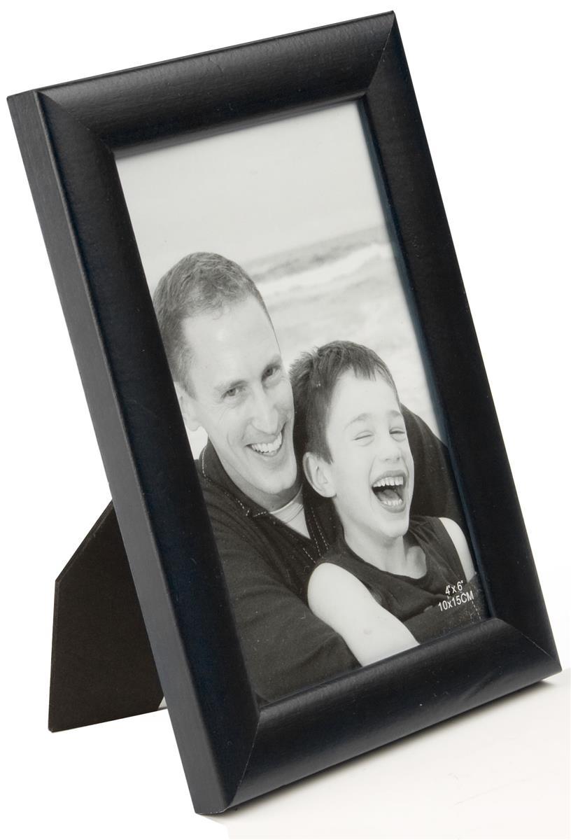 black wood photo frame 4 x 6. Black Bedroom Furniture Sets. Home Design Ideas