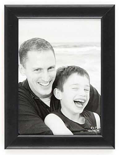 "Black Wood Photo Frame with a Glass Lens – 5"" x 7"""