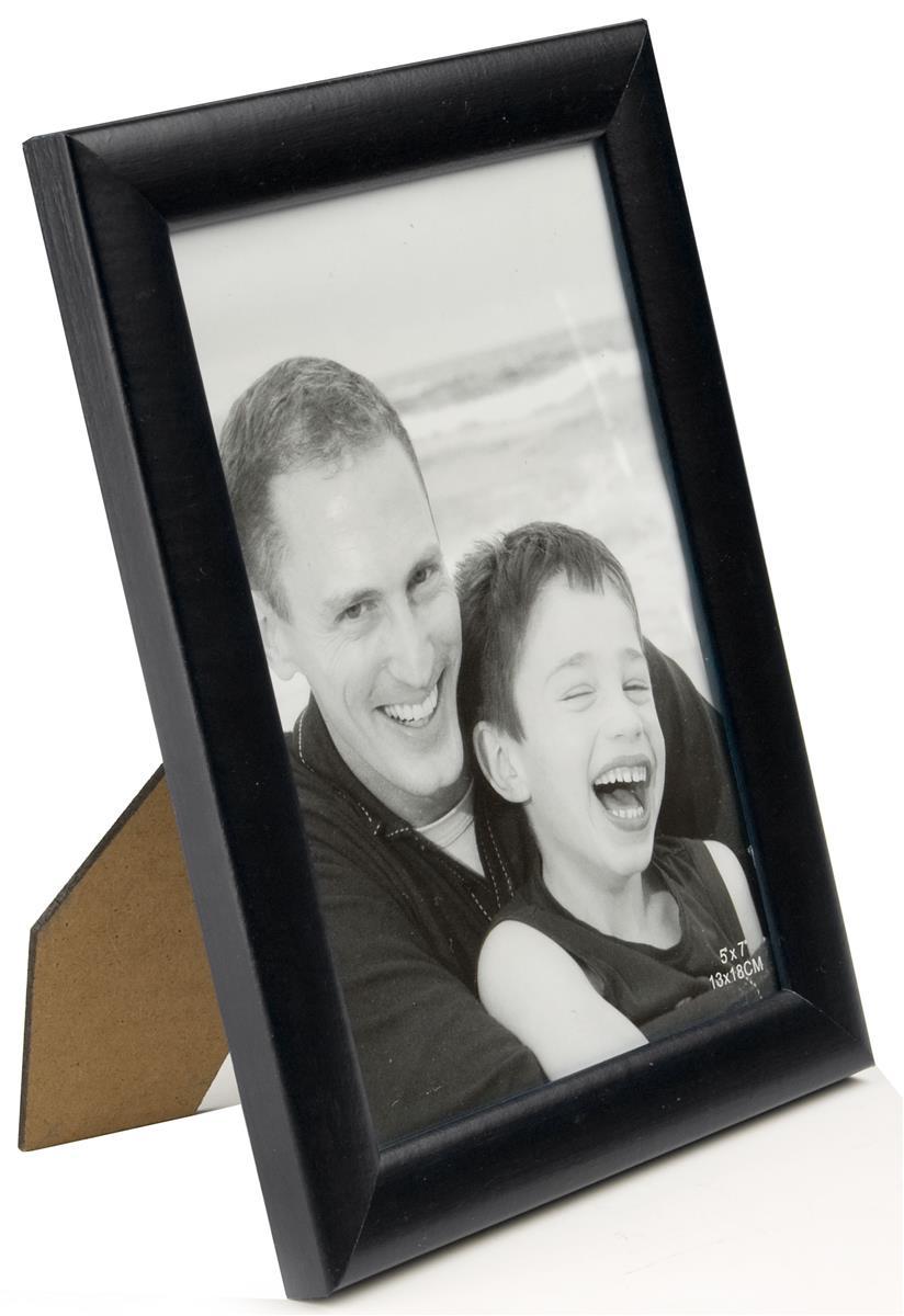 black wood photo frame for tabletop or wall mount use. Black Bedroom Furniture Sets. Home Design Ideas