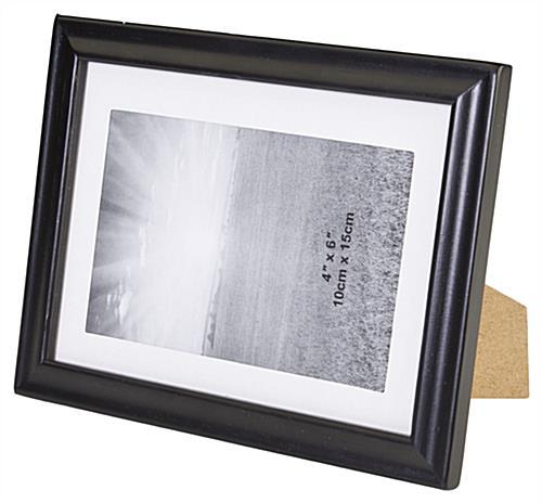 black photo frames showcase 5 x 7 pictures wood molding. Black Bedroom Furniture Sets. Home Design Ideas