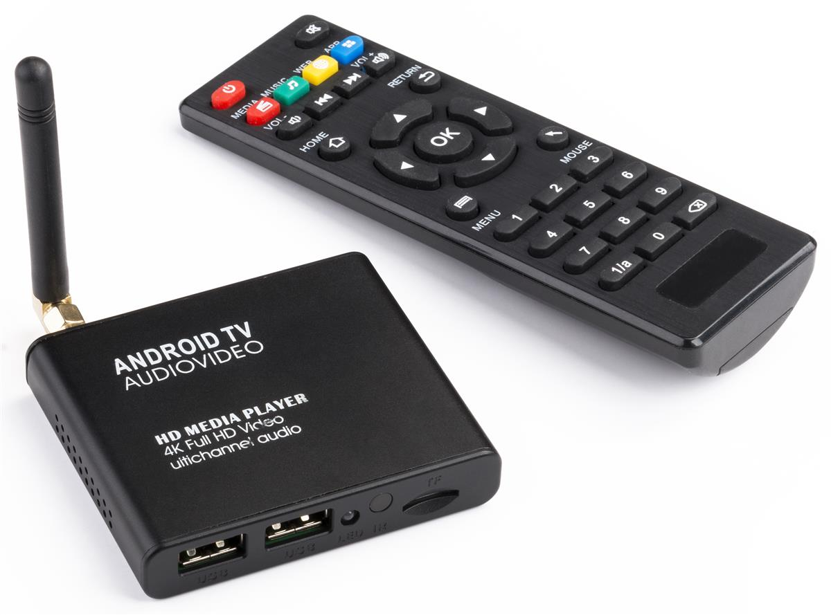 HD Android Media Player for Video, Image & Audio Playback, WiFi Enabled -  Black
