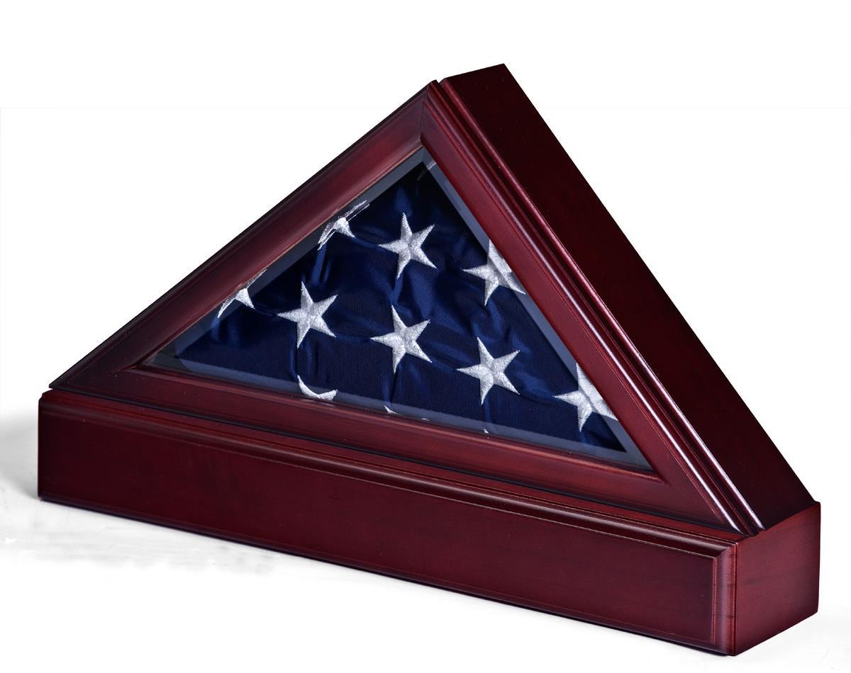 Memorial flag display case wall mount or pedestal base for Proper us flag display