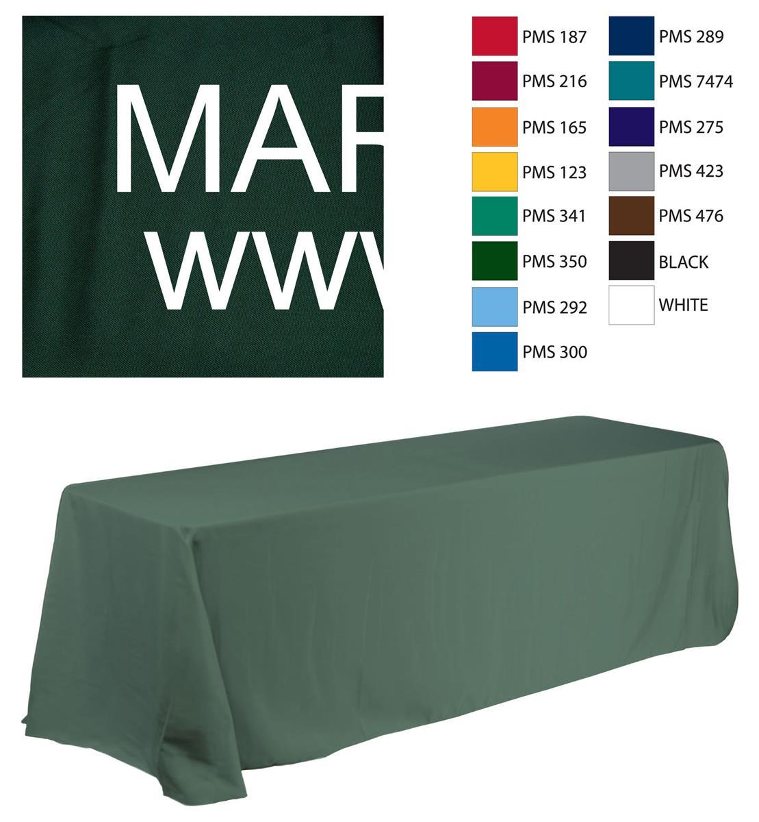 Displays2go 6' Table Cloth with Custom 1 Color Text Impri...