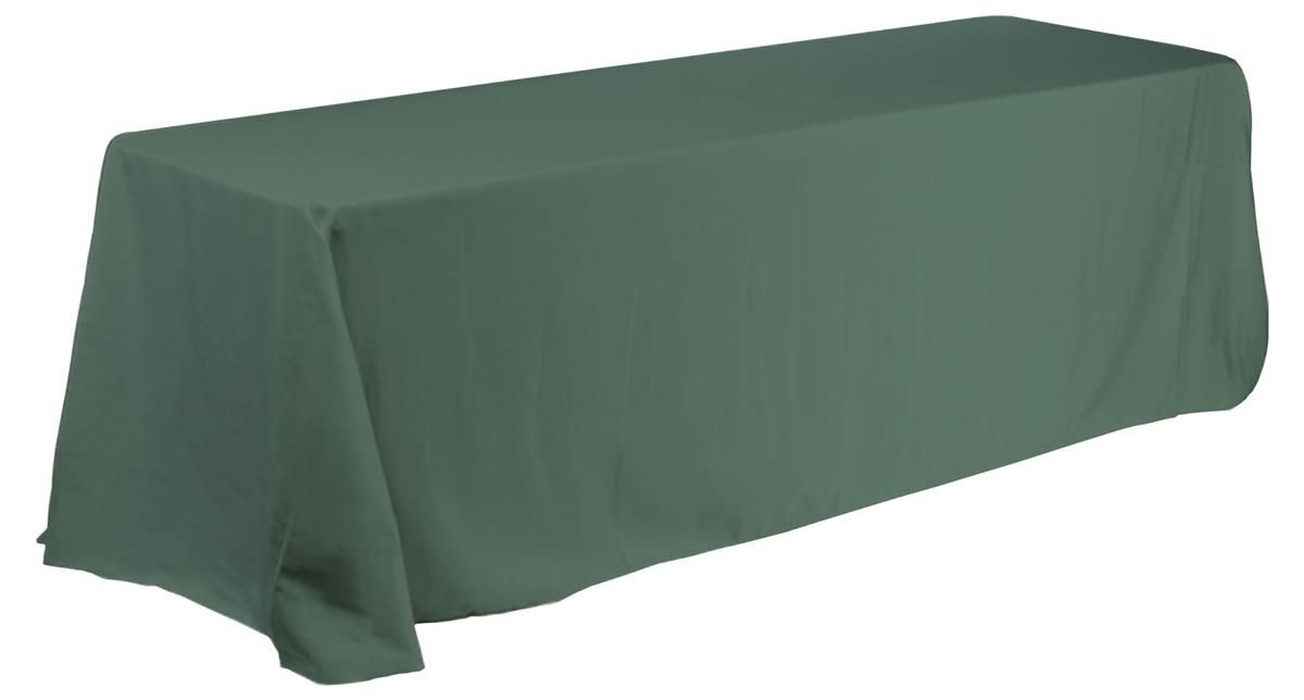 39685c32dea37 Table Linens With Rounded Corners For 6ft. Table Green