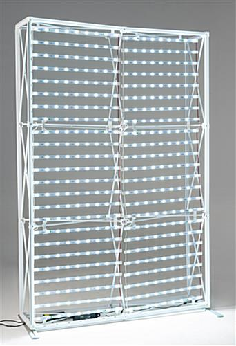 SEG fabric light box frame with LED ladders