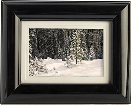 "5"" x 7"" Black Matted Picture Frame"
