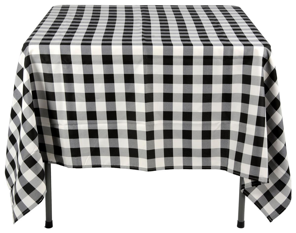 Black Amp White Tablecloths 70 X 70 Square Display