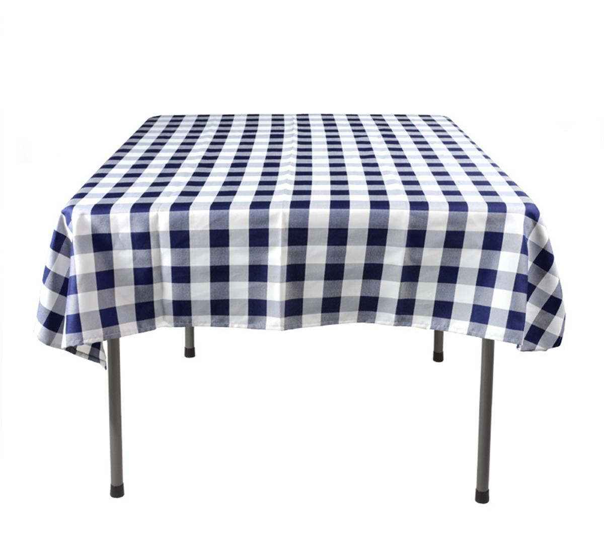 Checkered Tablecloth Blue Amp White Square Shaped Cover