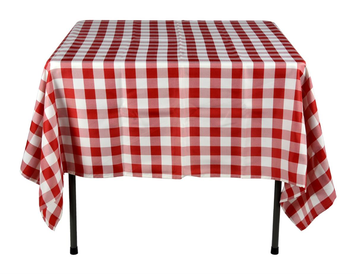 Red Amp White Tablecloths 100 Polyester Checkerboard Pattern