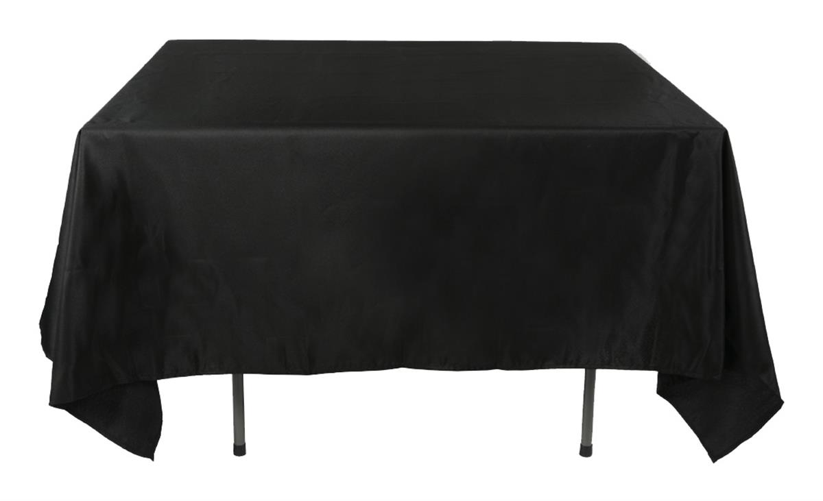 Design Black Tablecloth commercial table cloths black polyester 85 x 85