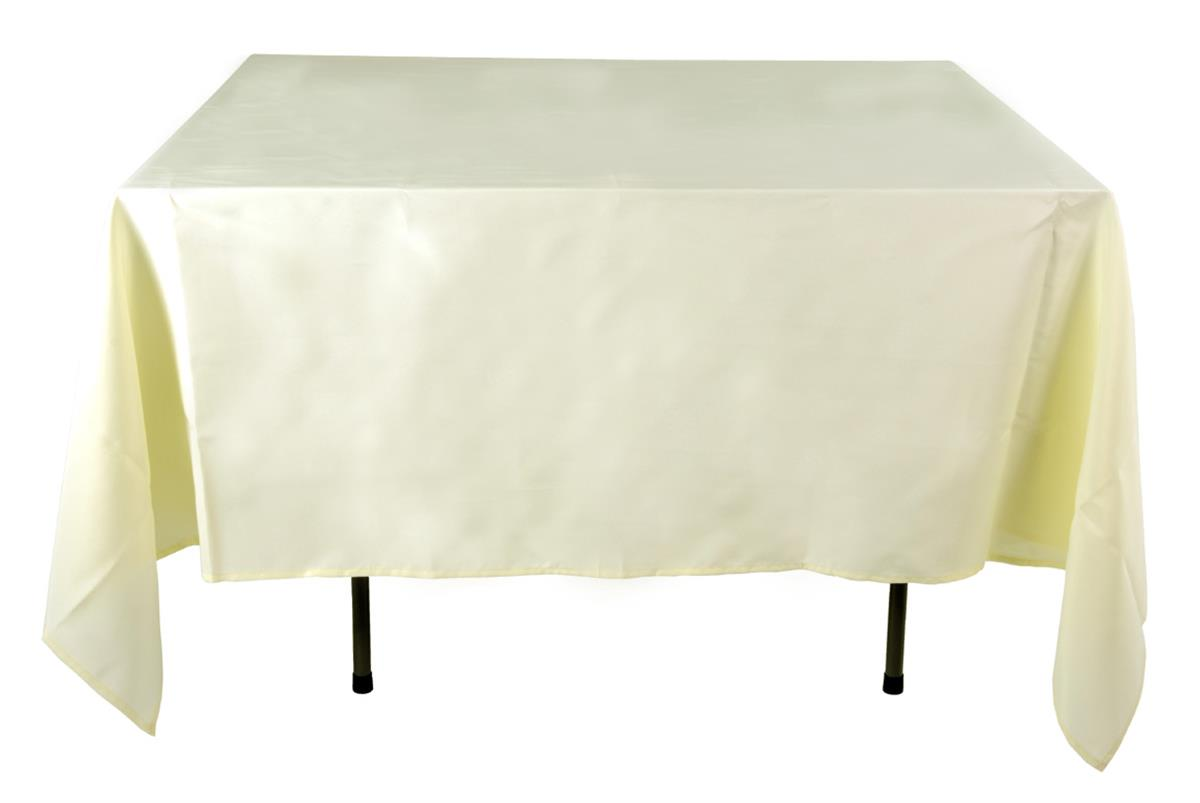 Restaurant table cloths ivory cover 85 x 85 for Table 85 restaurant