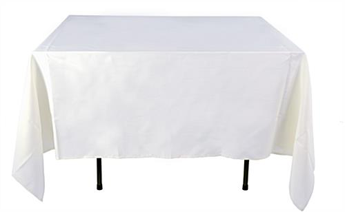 Cheap Tablecloths White Polyester Cover 85 X 85