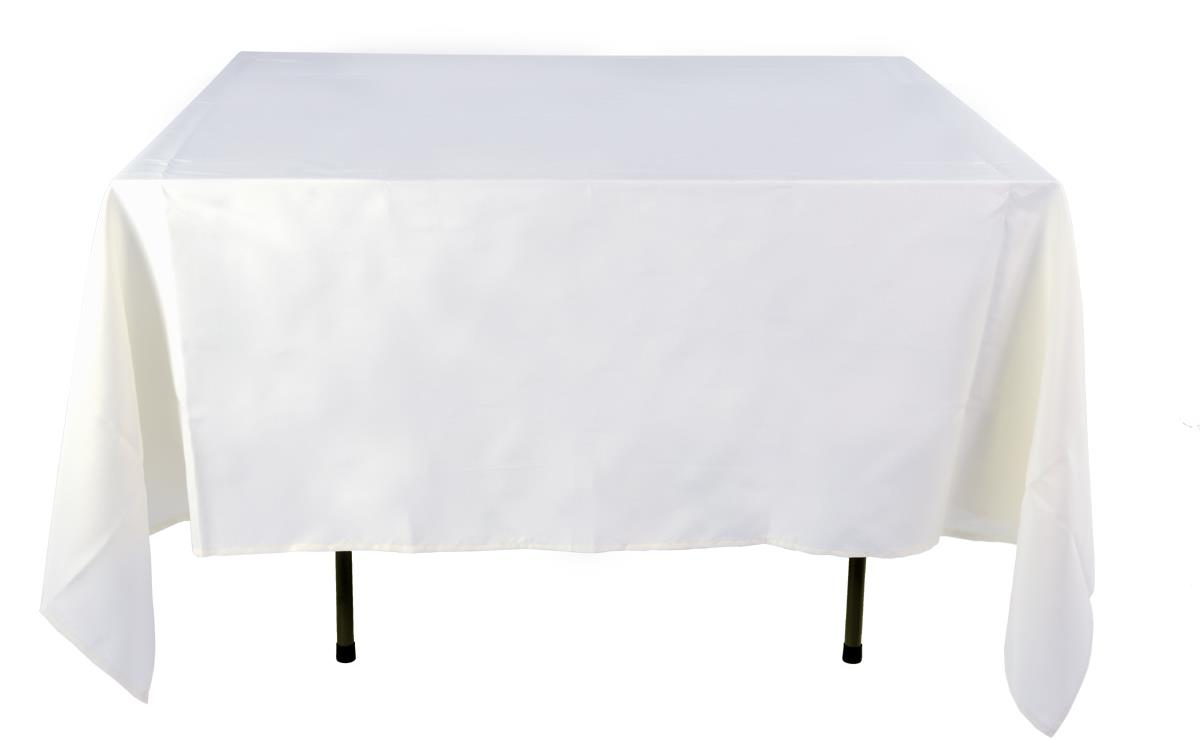Cheap Tablecloths White Polyester Cover 85 x 85 : hmsqr85whrwzoom from www.displays2go.com size 1200 x 740 jpeg 24kB