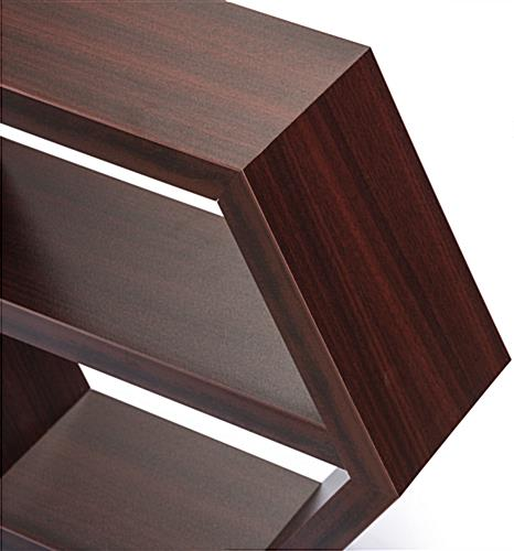 Wood Hexagon Shelf with Smoothed Edges
