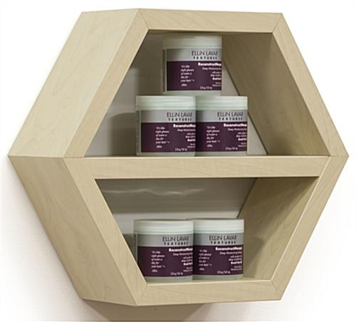 Propped Hexagonal Shelving
