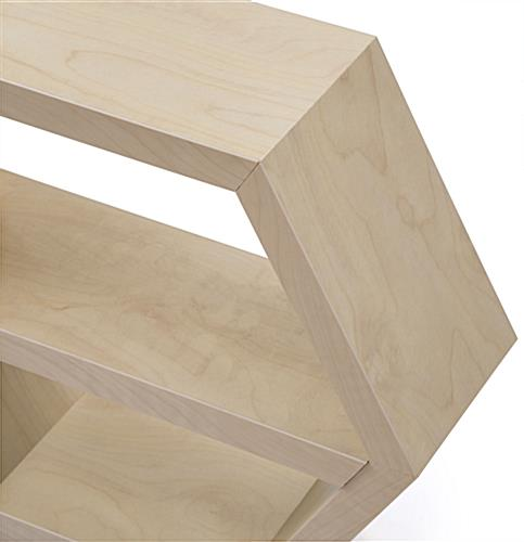Hexagonal Shelving with Smooth Edges