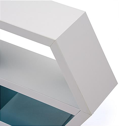 White Hexagon Shelf Smooth Edges