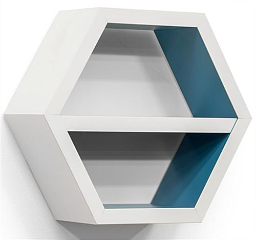 "14"" Wide White Hexagon Shelf"
