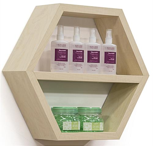 Honeycomb Hexagonal Shelving Propped