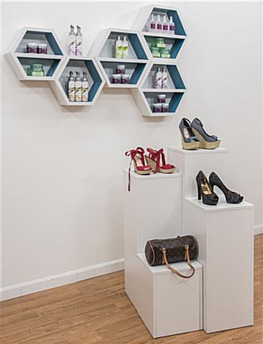 Hexagonal Shelving Unit in a Retail Store