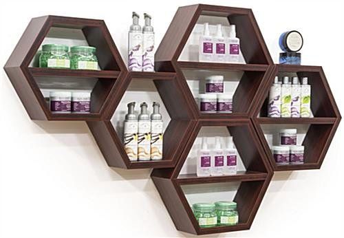 Hexagon Honeycomb Shelving in Use
