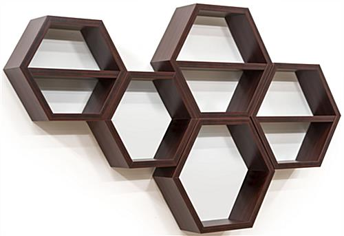 Hexagon Honeycomb Shelving for a Retail Setting