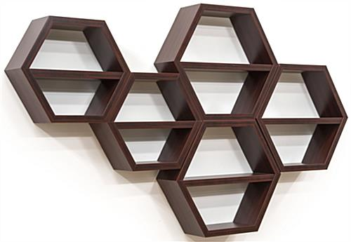 Hanging Hexagon Honeycomb Shelving