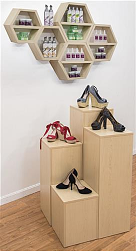 Floating Honeycomb Shelves in Use