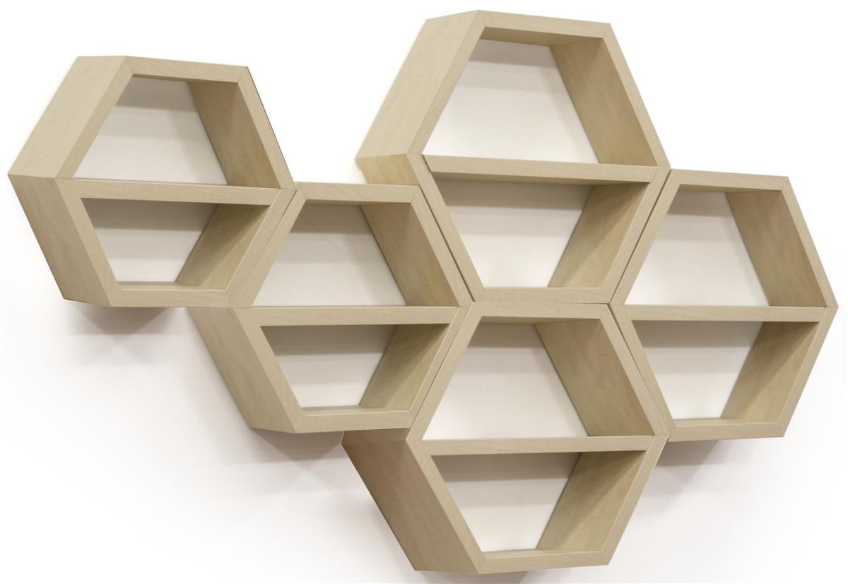 Wood Honeycomb Shelves