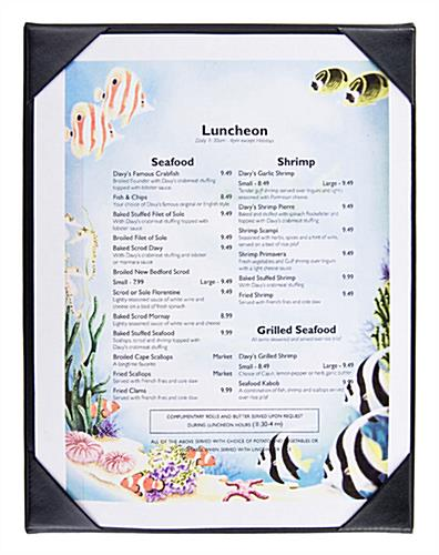 Single Panel Menu Cover