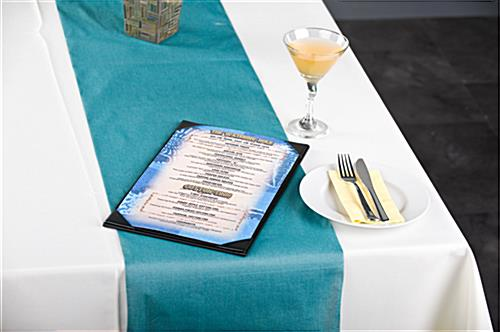 Restaurant ready single pocket menu cover