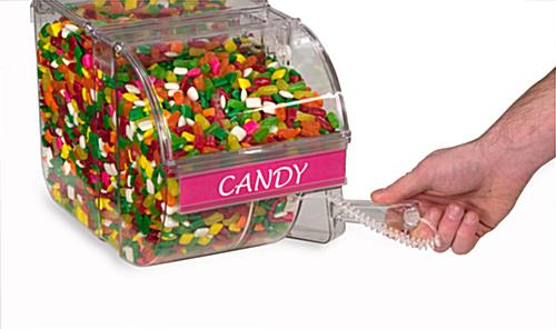 small candy scoop bin