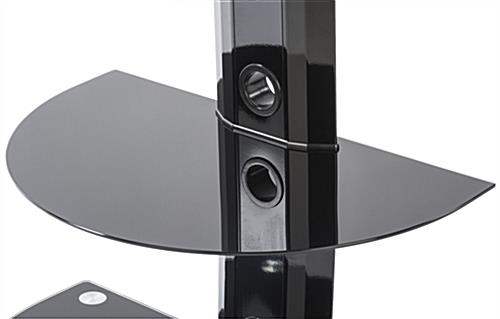 Tempered Glass and Metal TV Stand