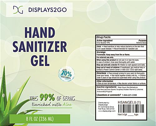 Aloe-enriched hand sanitizer gel